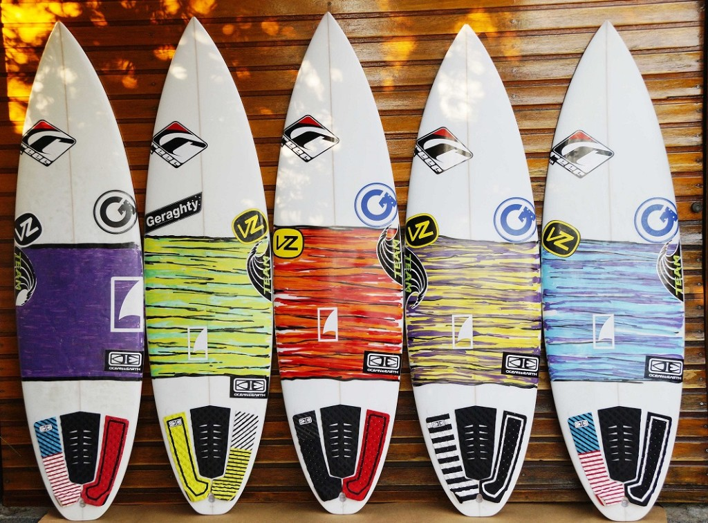 The Ultimate Board Quiver – Team Rider Rigard Smit's quiver for the 2013 USA leg.