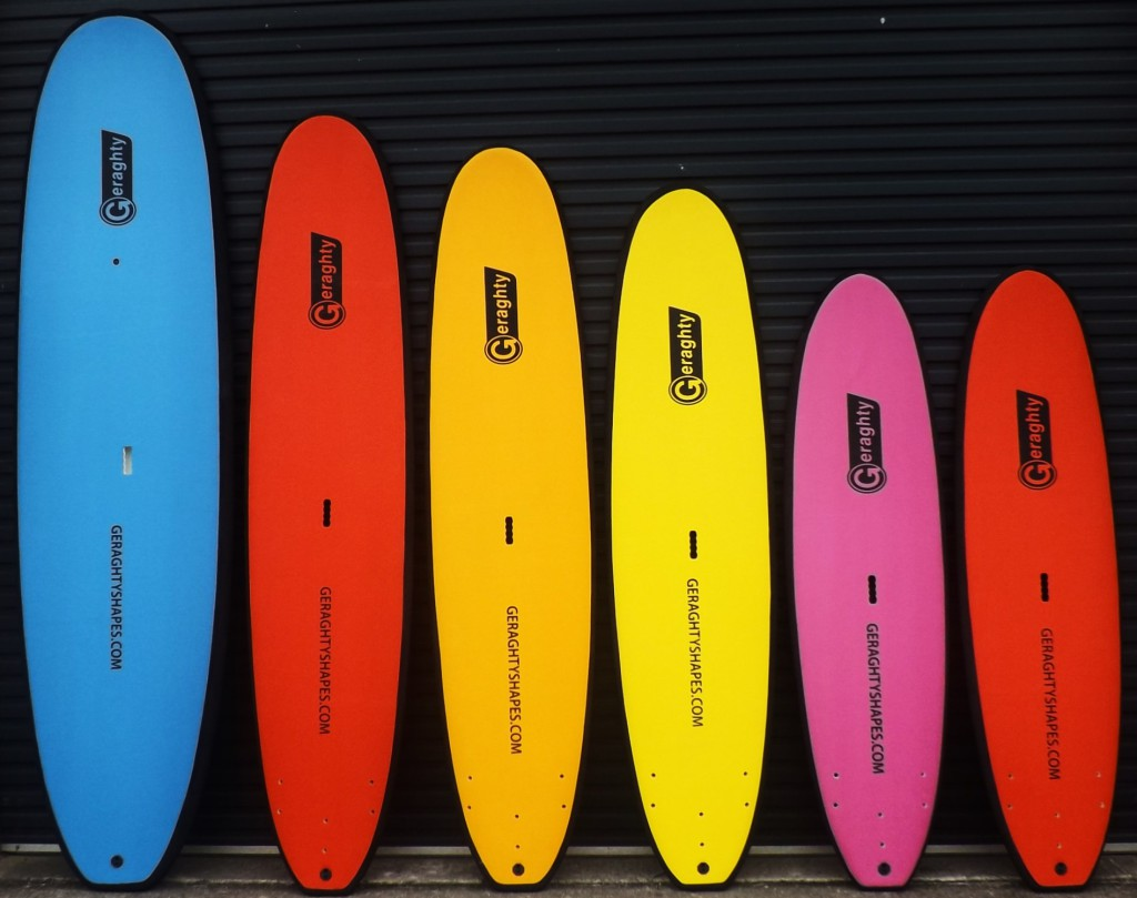 Vertical view of the S1 softboard range
